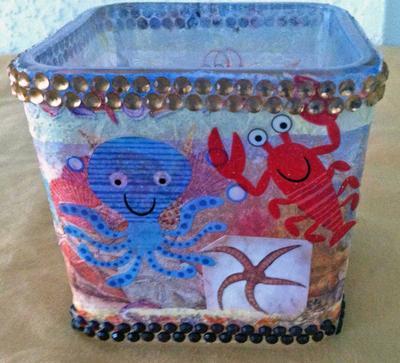 Sea Creatures Vase