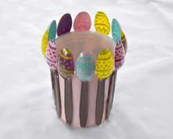 easter egg spoon planter