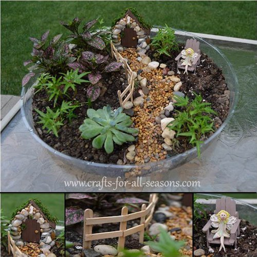 Make a fairy garden from the furniture to the fairies for Making things for the garden