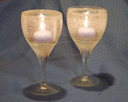 gel wax candle holders
