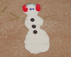 glue snowman
