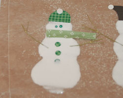 snowman made of glue