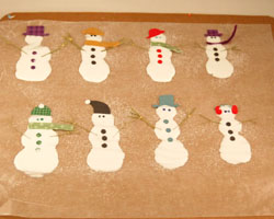 glue snowmen