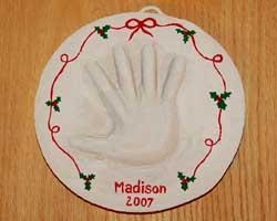 handprint plaque