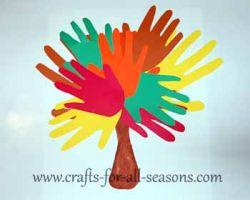 hand print crafts