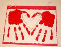 handprint valentines