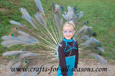 Homemade peacock costume for Peacock crafts for adults