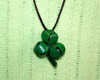 jingle bell shamrock necklace