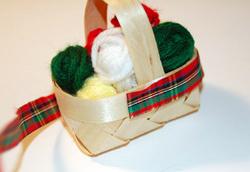 knitting basket ornament