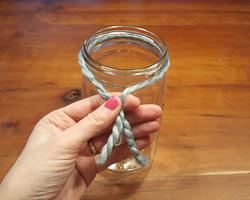 yarn knot mason jar