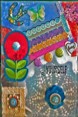 Love Yourself Mixed Media Art Canvas