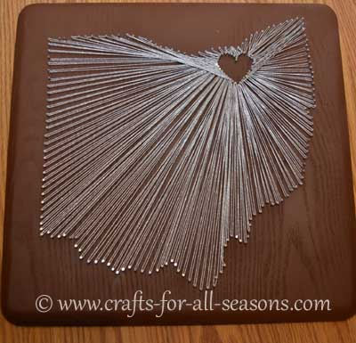 State string art heres something else to try city skyline string art prinsesfo Images