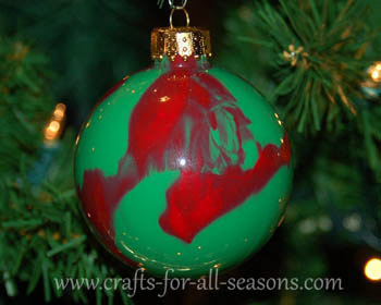 paint swirled ornament