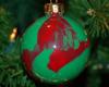 paint swirled ornament