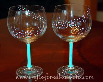 Painted wine glasses for Type of paint to use on wine glasses