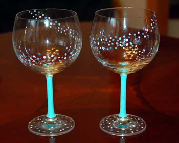 Craft Ideas Sorority on Painted Wine Glasses Ideas