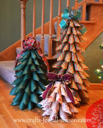 Paper Christmas Tree.Paper Cone Trees