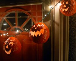 paper mache pumpkins