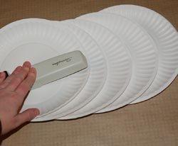 paper plate cornucopia
