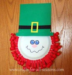 paper plate leprechaun