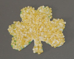 shamrock pasta craft