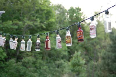 Continue Adding On A Booze Bottle On To Each Light. Enjoy Those Party Lights !