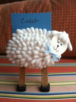 Cotton Swab Lamb Craft