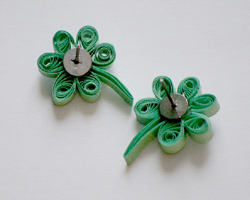 quilled shamrocks