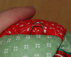 quilted ball ornament