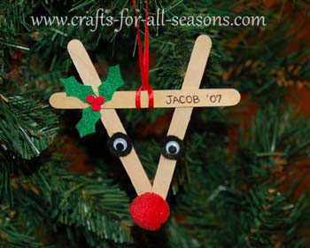 Lollipop Stick Christmas Decorations.Reindeer Ornament