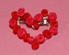 rose heart pin