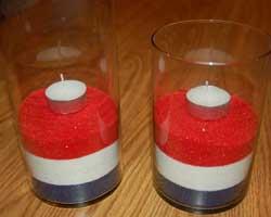 patriotic candles