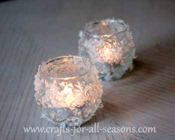snow covered votives