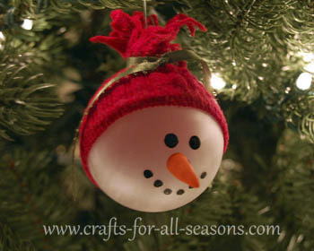 Snowman ornament for Easy crafts to make and sell for profit