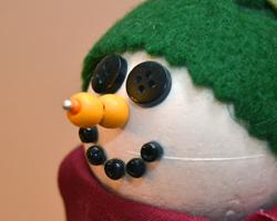 snowman snow gauge