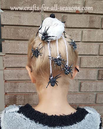 spider nest hair