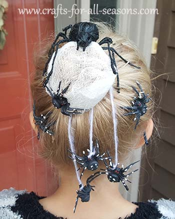 spider nest hair