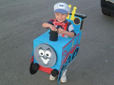 Thomas the Train and his conductor Donovan