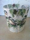 Christmas Bird Vase