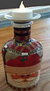 Santa Christmas Decorative Bottle