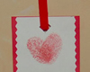 thumbprint heart bookmark