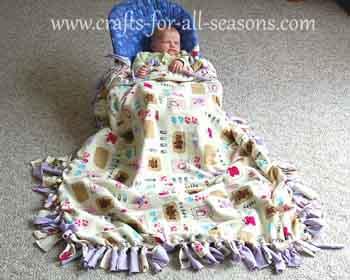 Tied Fleece Blanket : tied fleece quilt - Adamdwight.com
