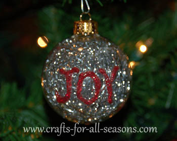 tinsel ornament - Glass Christmas Bulbs For Decorating