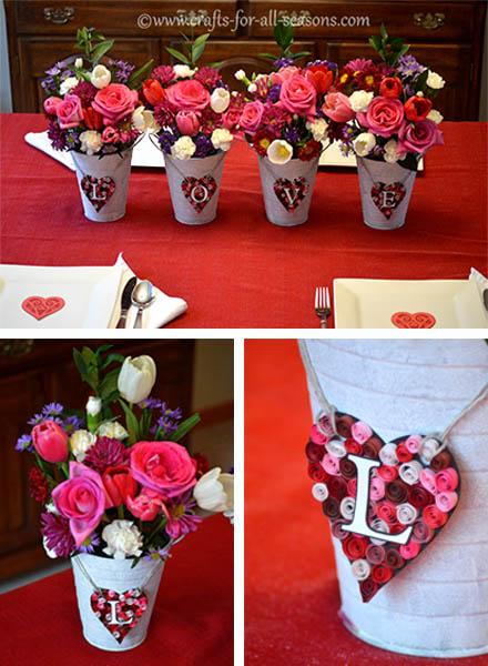 valentines day centerpiece beautiful blooms from proflowers - Valentines Day Centerpieces