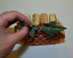 gluing leaves