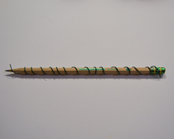 wire wrapped around pencil