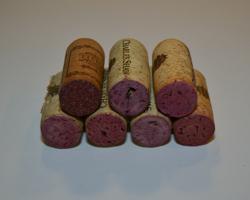layering wine corks