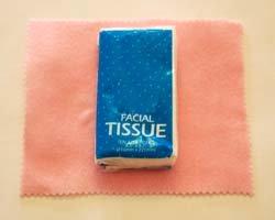 tissue on felt