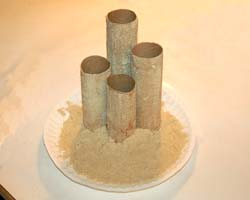 standing tubes up on the plate