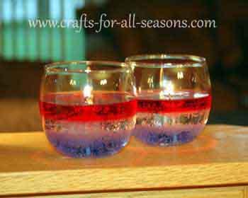 patriotic gel candles